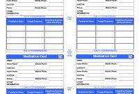 Patient Medication Card Template  Emergency Kits  Medication List inside Medical Alert Wallet Card Template