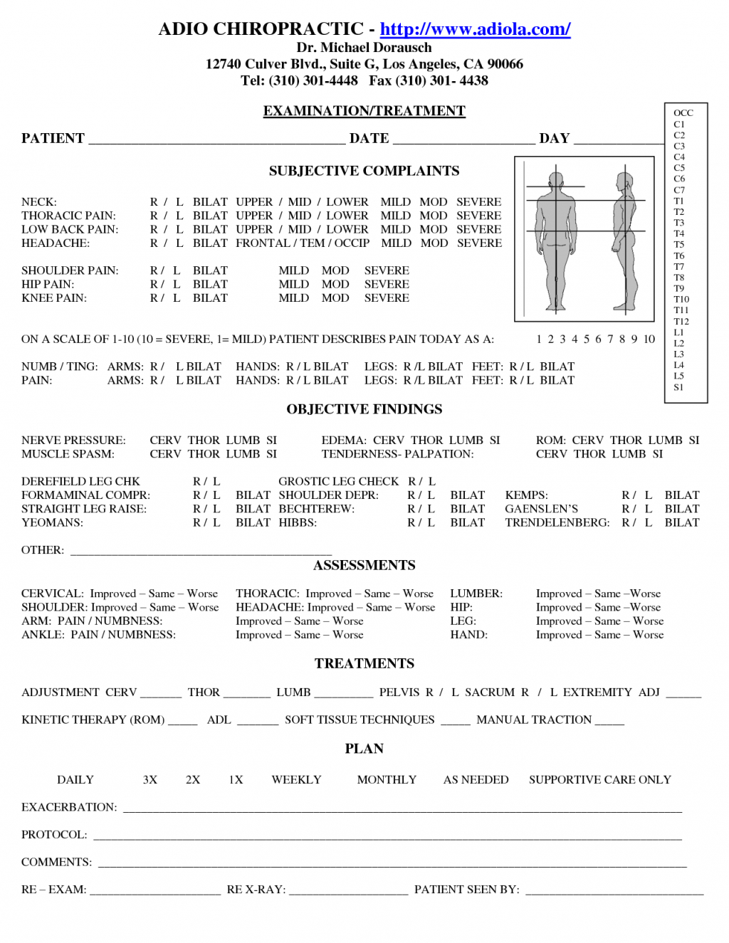 Patient Progress Report Sample Template Chiropractic Soap Note With Regard To Soap Report Template