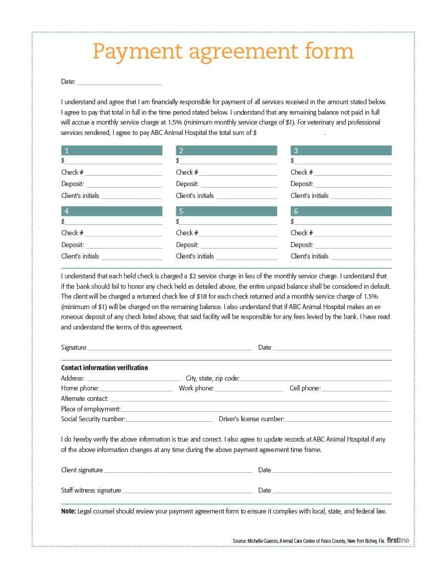 Payment Agreement   Templates  Contracts ᐅ Template Lab With Notarized Payment Agreement Template