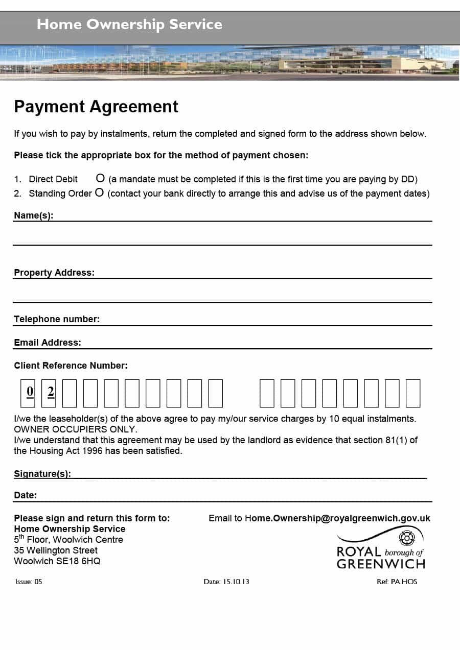 Payment Agreement   Templates  Contracts ᐅ Template Lab With Regard To Direct Debit Agreement Template