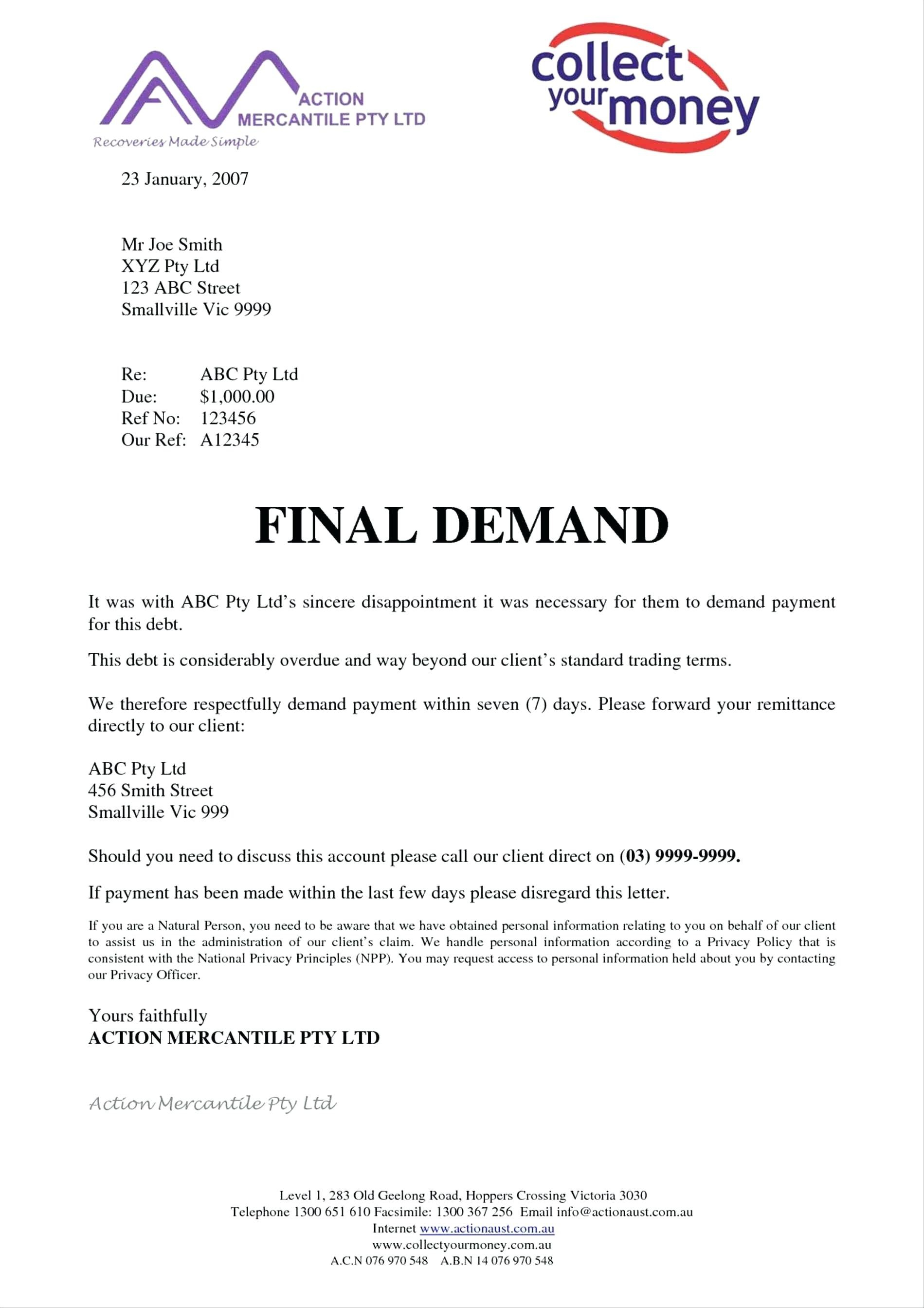 Payment Demand Letter Template Ideas Car Final Accident Example With Regard To Legal Debt Collection Letter Template