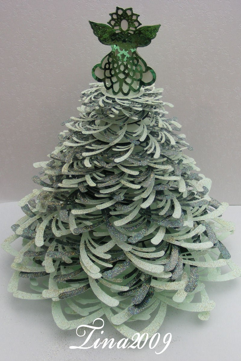 Pdf Format D Christmas Tree Template  £ Within 3D Christmas Tree Card Template