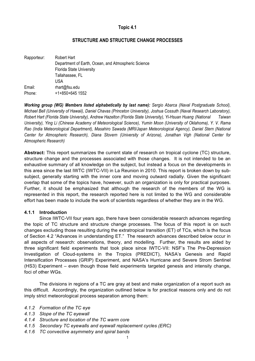 Pdf Structure And Structure Change Processes  Rapporteur Report With Regard To Rapporteur Report Template