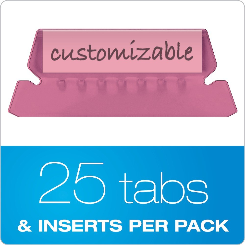 """Pendaflex Hanging Folder Tabs """" Clear Pink  Tabs  Inserts Per Pertaining To Pendaflex Label Template"""