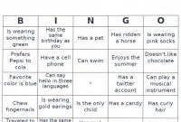 People Bingo  My Teaching Journey With Regard To Ice Breaker Bingo Card Template