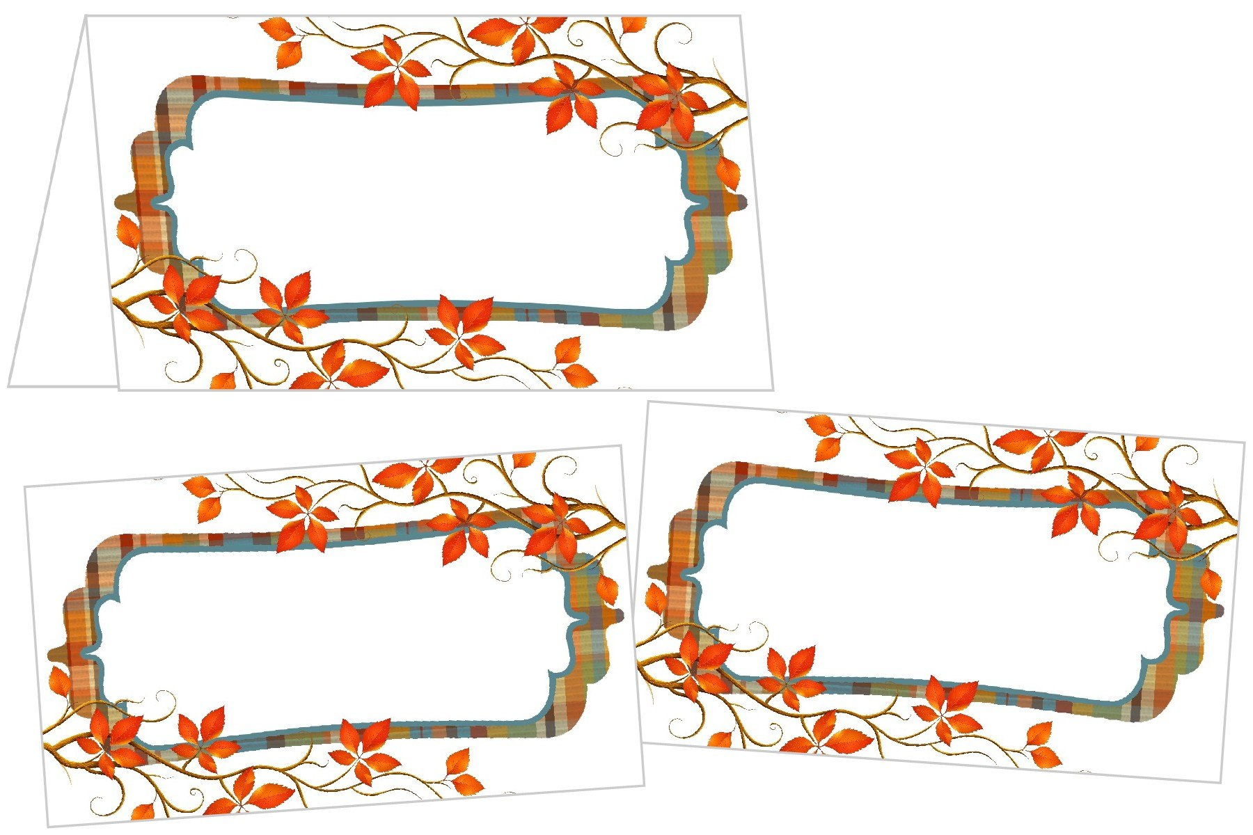 Perfectly Plaid Thanksgiving Place Cards Inside Thanksgiving Place Cards Template