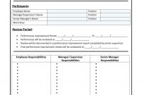 Performance Improvement Plan Templates  Examples  Leadership intended for Improvement Report Template