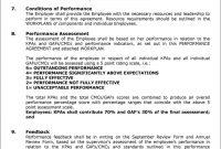 Performanceworkplan Agreement  Pdf with regard to Individual Performance Agreement Template