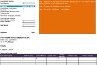 Personal Financial Statement Form   Printable Formats with regard to Blank Personal Financial Statement Template