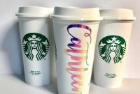 Personalized Starbucks Cup Personalized Starbucks Cup For  Etsy with Starbucks Create Your Own Tumbler Blank Template