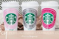 Personalized Starbucks Cups With Cricut  Youtube intended for Starbucks Create Your Own Tumbler Blank Template