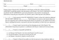 Pet Addendumagreement Pdf  Property Management Forms In regarding Addendum To Tenancy Agreement Template