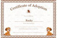 Pet Adoption Certificate Design Template In Psd Word with Pet Adoption Certificate Template