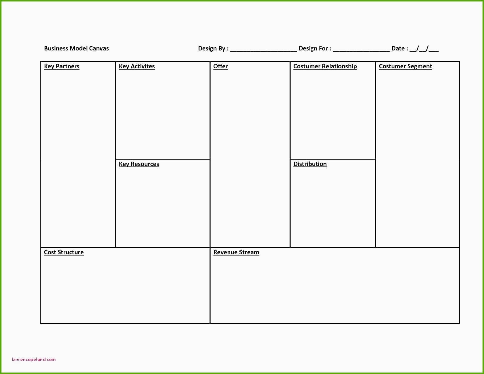 Phänomenal Business Model Canvas Word Vorlage Für Deinen Erfolg Intended For Business Model Canvas Word Template Download