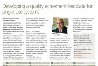 Pharmaceutical Technology Europe  October with Supplier Quality Agreement Template