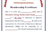 Pharmacy Technician Certificate Template – Certificate Templates with regard to Life Membership Certificate Templates