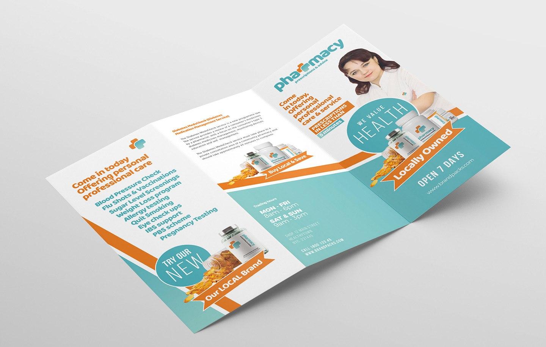 Pharmacy Trifold Brochure Template  Psd Ai  Vector  Brandpacks Throughout Pharmacy Brochure Template Free