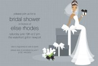 Photo  Pistol In Pumps Bridal Image with regard to Blank Bridal Shower Invitations Templates