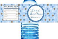 Photo  Zebra Baby Shower Thank You Image regarding Baby Shower Water Bottle Labels Template