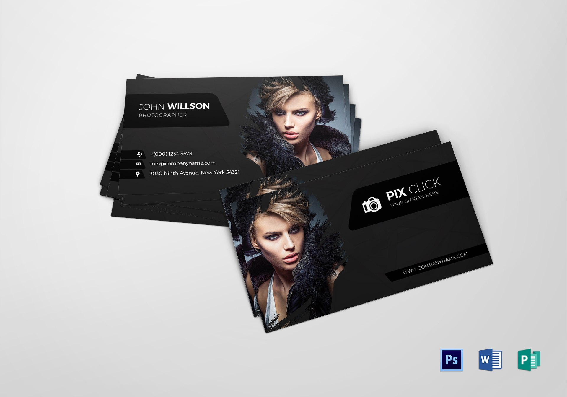 Photographer Business Card Design Template In Psd Word Publisher With Photography Business Card Template Photoshop