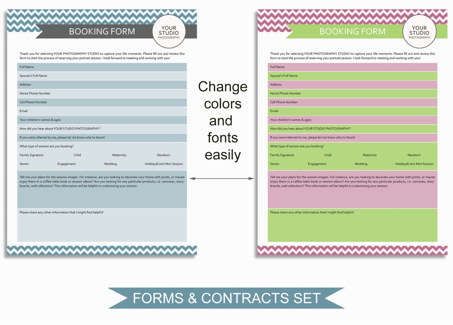 Photography Business Forms And Contracts Photoshop Templates Mbft Inside Photography Business Forms Templates