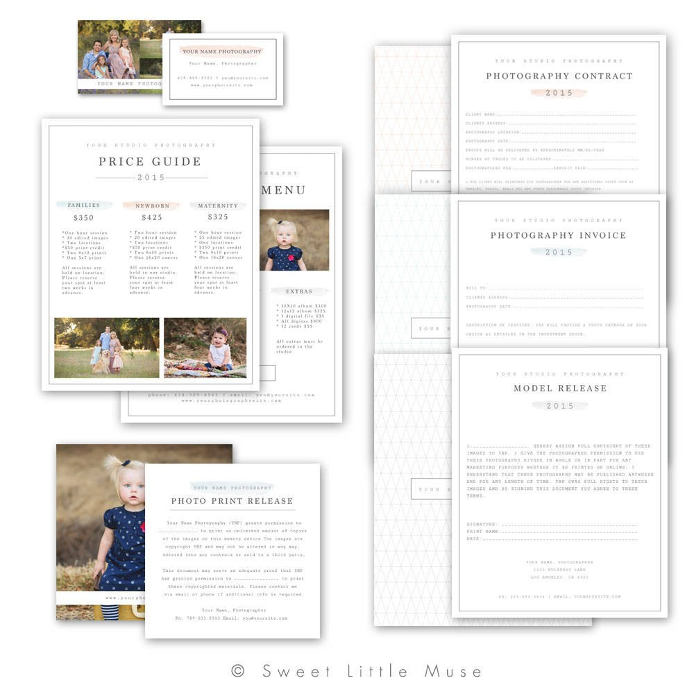 Photography Business Forms Photography Business Form  Etsy Throughout Photography Business Forms Templates