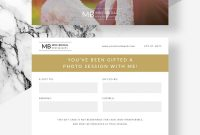 Photography Gift Certificate Photographer Gift Card Template  Etsy in Gift Certificate Template Photoshop