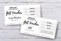 Photography Gift Voucher Certificate Template Psd For  Etsy throughout Photoshoot Gift Certificate Template