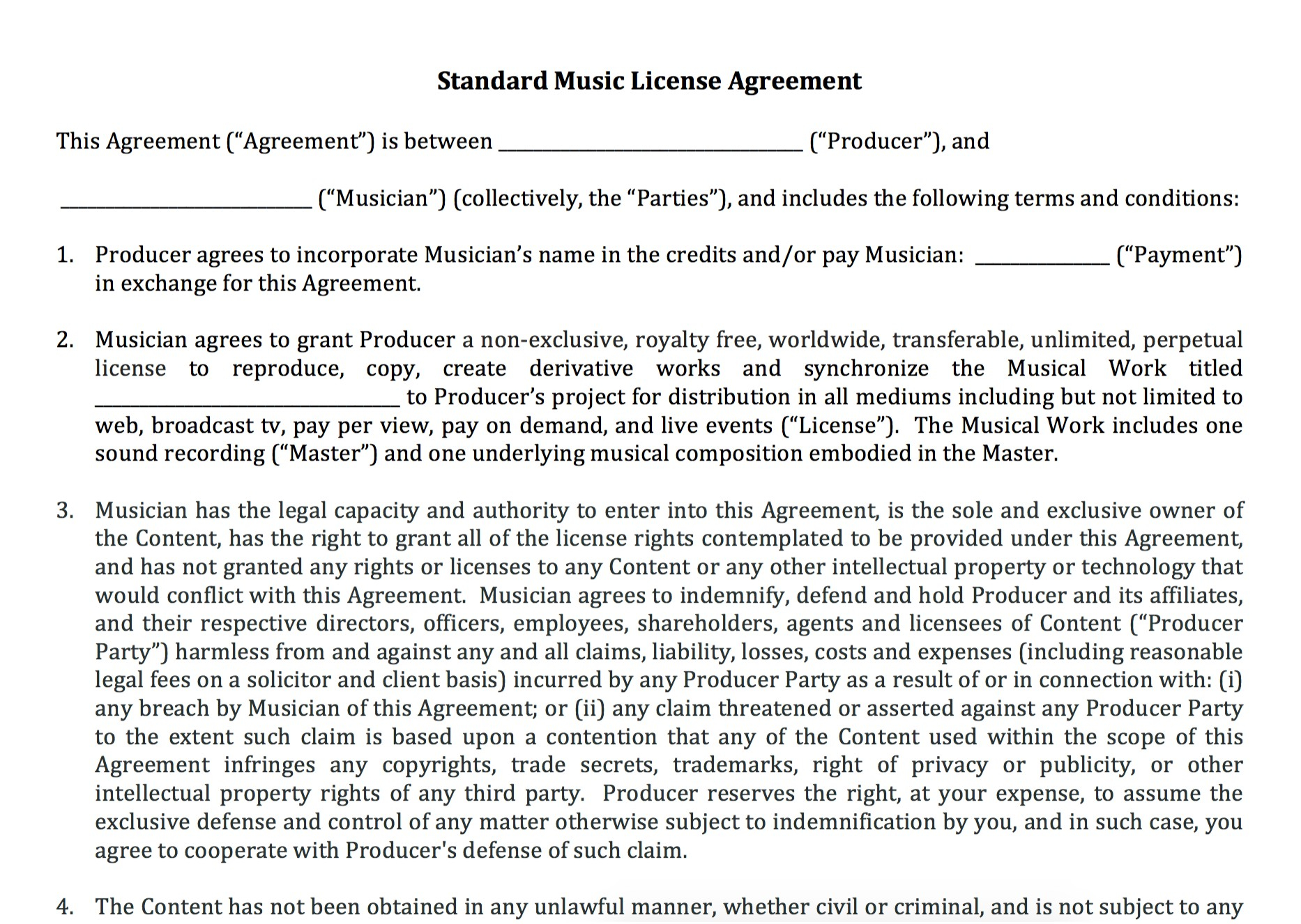 Photography License Agreement Template Good Content Pictures Gt Regarding Free Trademark License Agreement Template