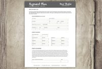 Photography Payment Plan Form Template Financial Contract  Etsy inside Financial Payment Plan Agreement Template