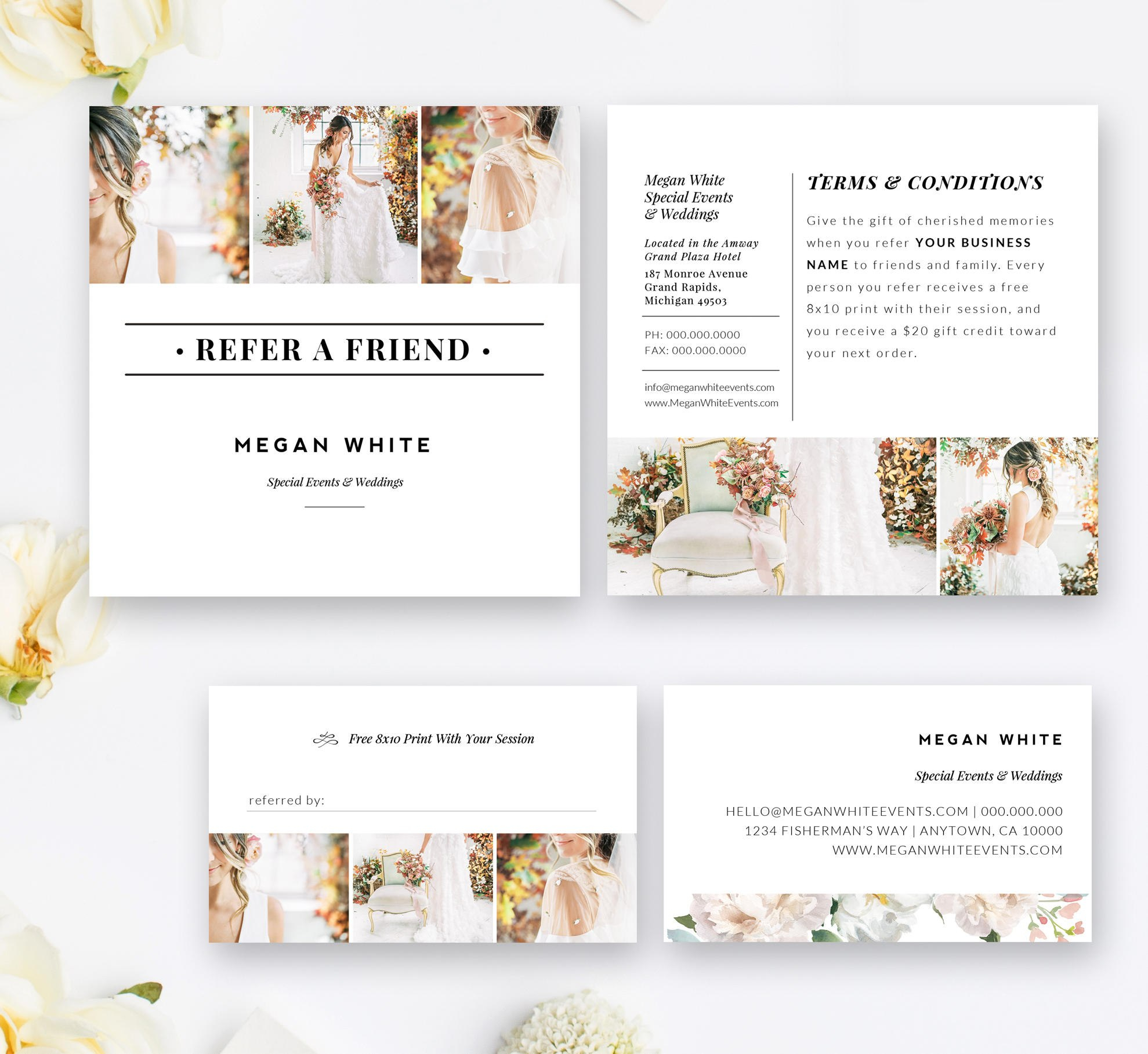 Photography Referral Card Template Wedding Planner Referral  Etsy Inside Photography Referral Card Templates