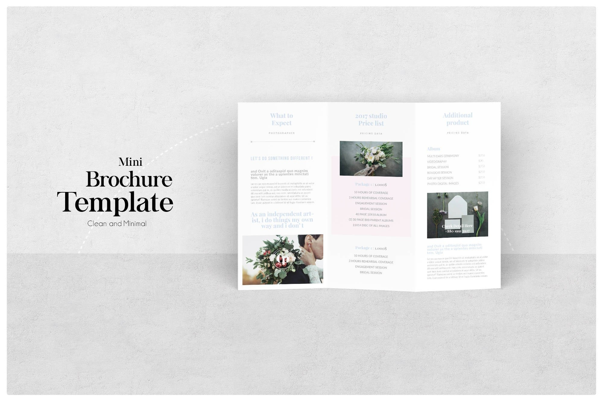Photography Trifold Brochure Brochure Pricing Welcome  Etsy Throughout Welcome Brochure Template