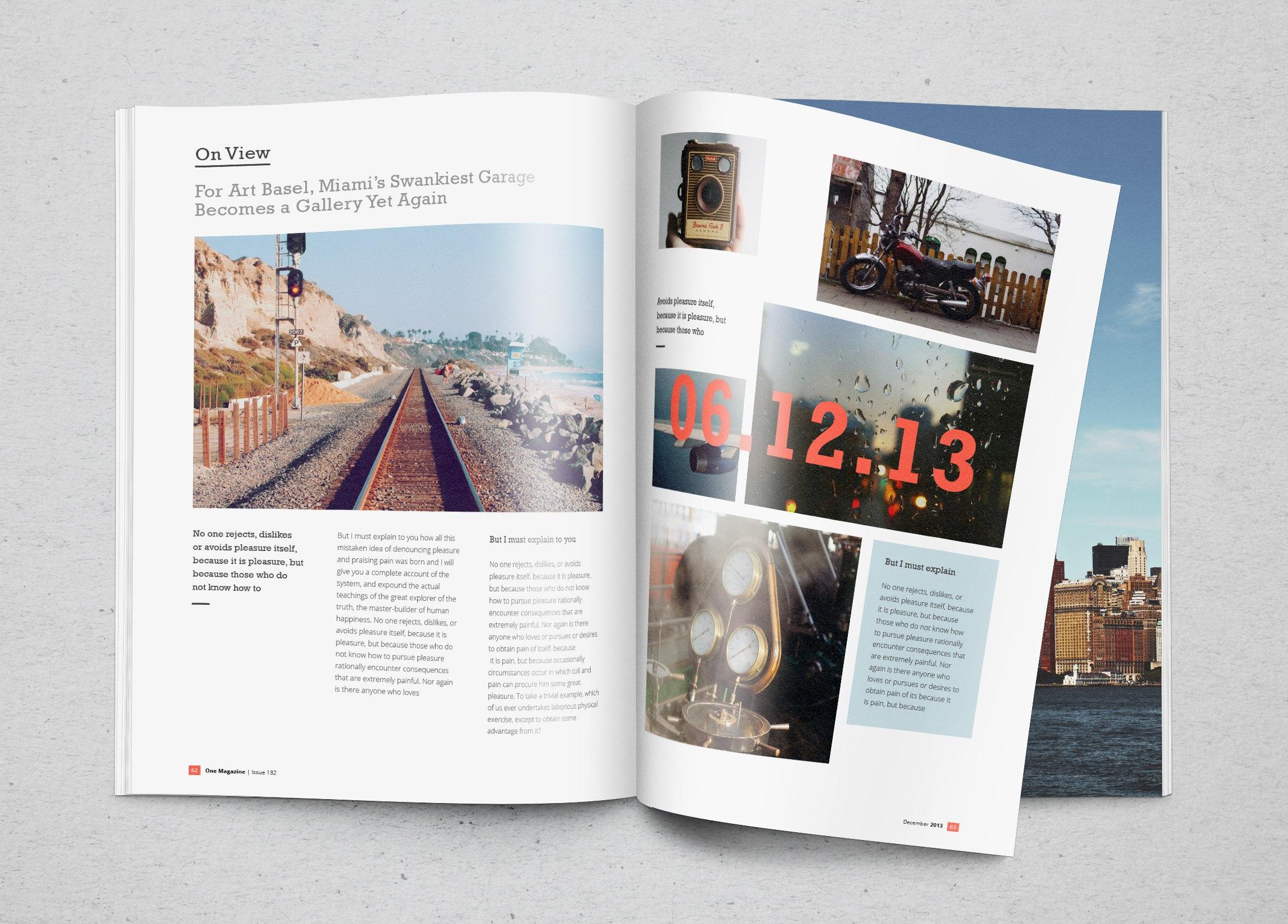 Photorealistic Magazine Mockup  Graphicburger Inside Blank Magazine Template Psd