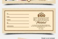Photoshoot  Free Gift Certificate Psd Template On Behance inside Photoshoot Gift Certificate Template