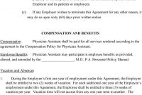 Physician Assistant Employment Agreement Terms Of Agreement  Pdf With Regard To Physician Consulting Agreement Template