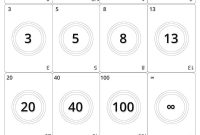 Picture Agile Planning Poker Cards Black And White Print Friendly with Planning Poker Cards Template
