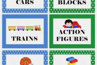 Picture Labels For Toys  Free Printable Boy's Toy Bin Labels in Bin Labels Template