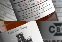 Pinbest Graphic Design On Premium Packaging Templates  Beer pertaining to Beer Label Template Psd