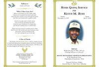 Pineva On Eva Williams  Funeral Program Template Free Program intended for Memorial Brochure Template