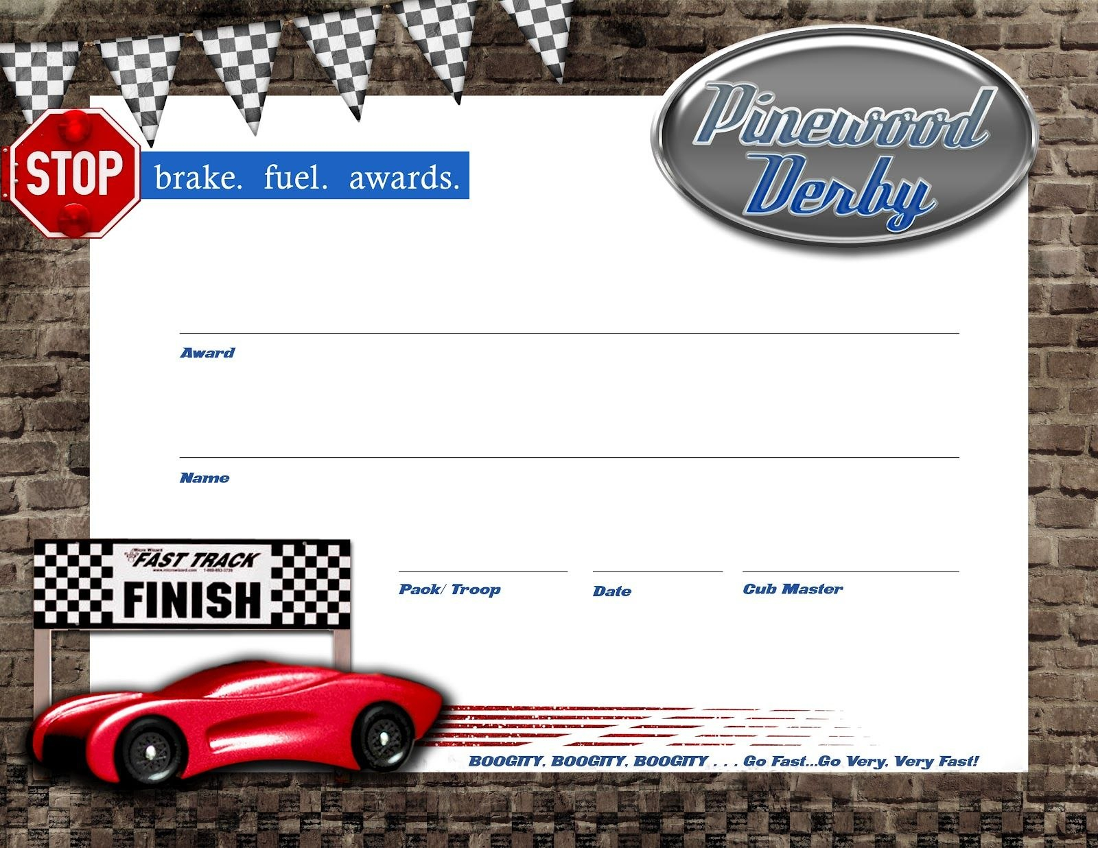 Pinewood Derby Certificate  Free Download  Lanyards  Boy Scouts Intended For Pinewood Derby Certificate Template