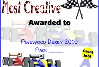 Pinewood Derby Certificates  Do Your Best Cub Scouts  Cub Scout in Pinewood Derby Certificate Template