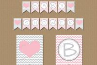 Pink And Grey Baby Shower Banner Girl Baby Shower Banner  Etsy with Baby Shower Banner Template