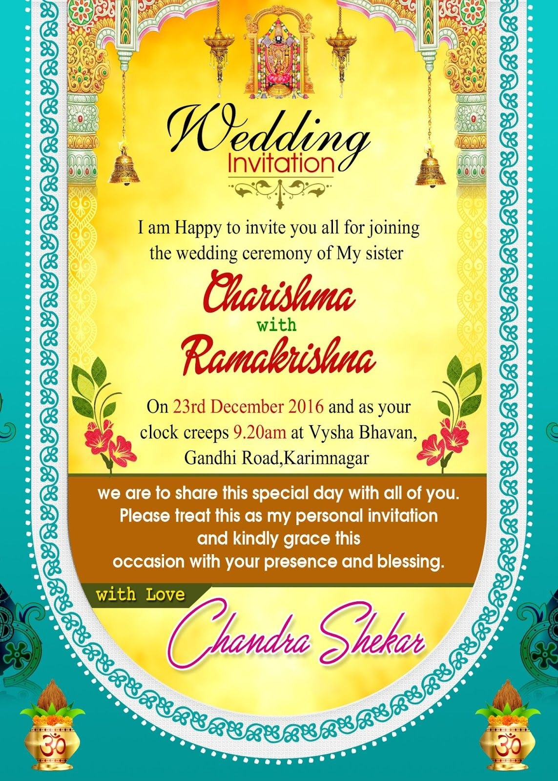 Pinkakuli Mishra On Indian Wedding Invitations  Hindu Wedding With Regard To Indian Wedding Cards Design Templates