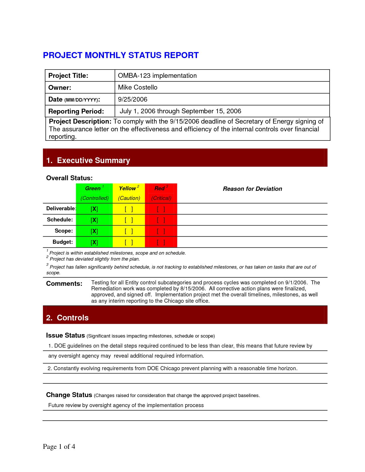 Pinlesedi Matlholwa On Templates  Progress Report Template Regarding Deviation Report Template