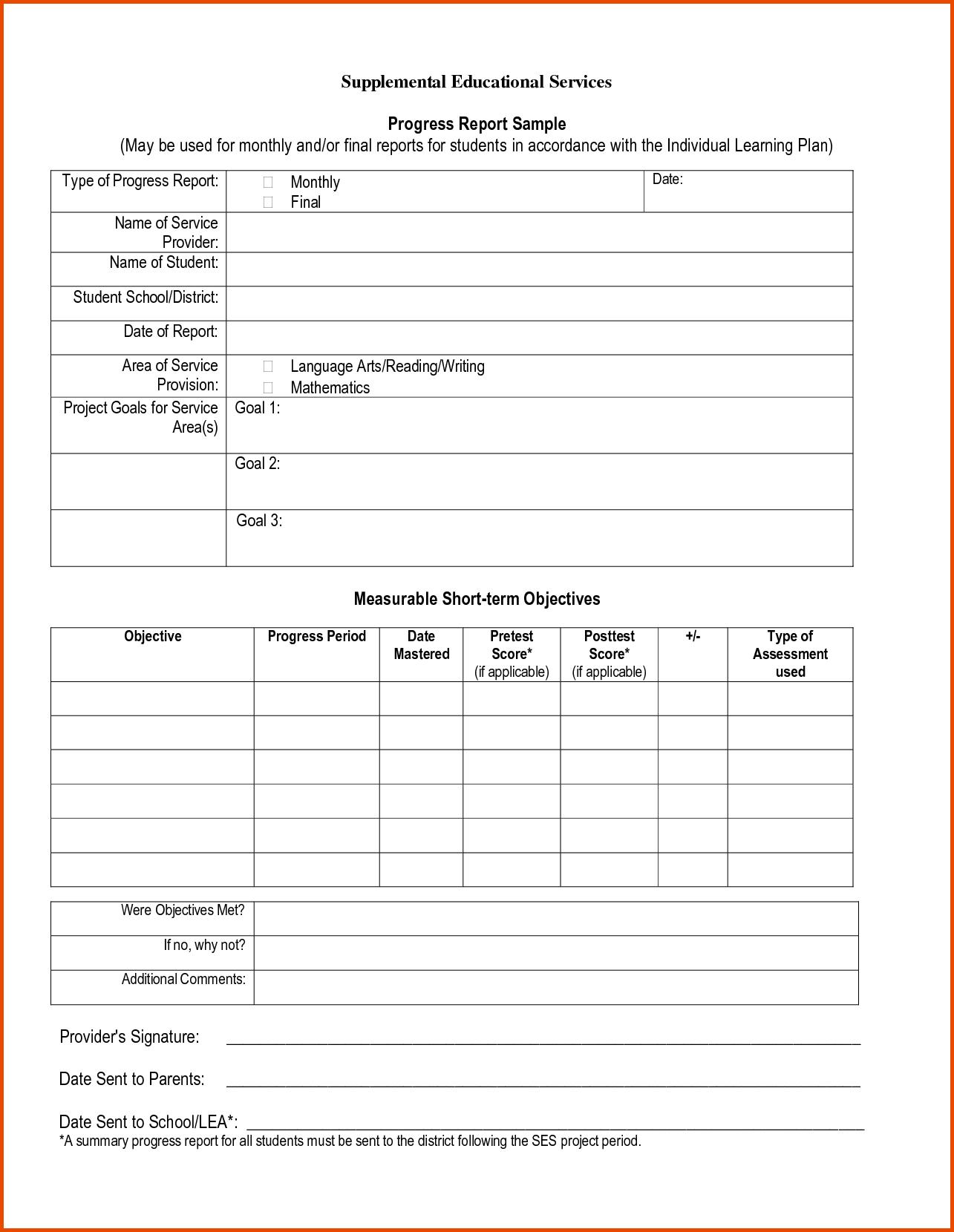 Pinmaricarl Carranza On Sample Progress Report  Progress Report For School Progress Report Template