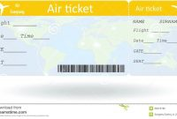 Pinpat Zema On French  Ticket Template Airline Tickets Ticket intended for Plane Ticket Template Word