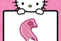 Pinsudeepthi B On Banner Printable  Printable Banner Hello inside Hello Kitty Banner Template