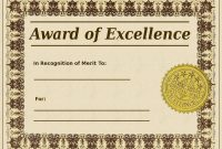 Pinterest for Award Of Excellence Certificate Template