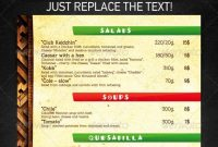 Pinterest intended for Mexican Menu Template Free Download