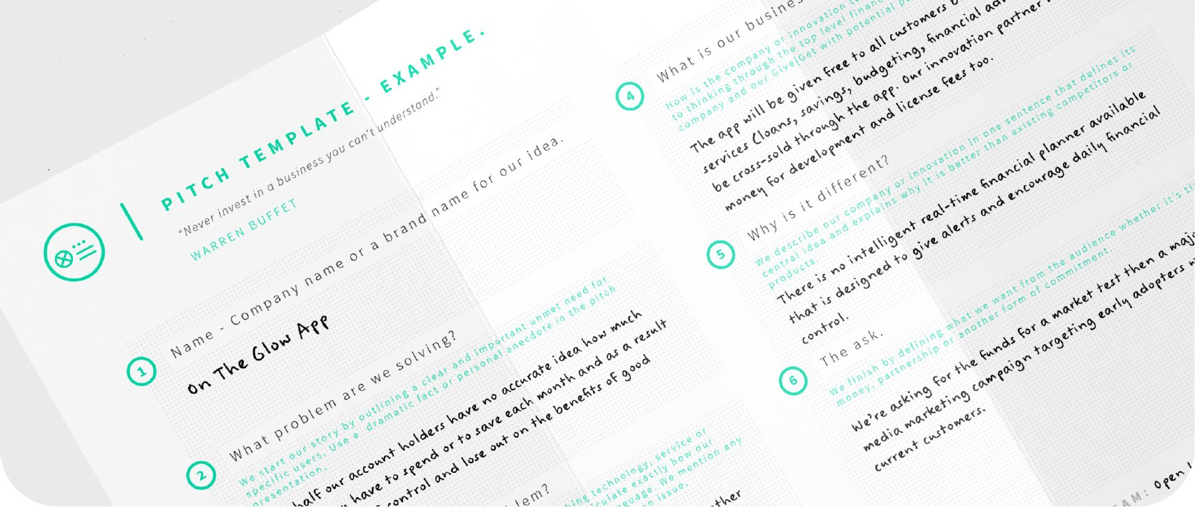 Pitch Template – Open In Business Idea Pitch Template